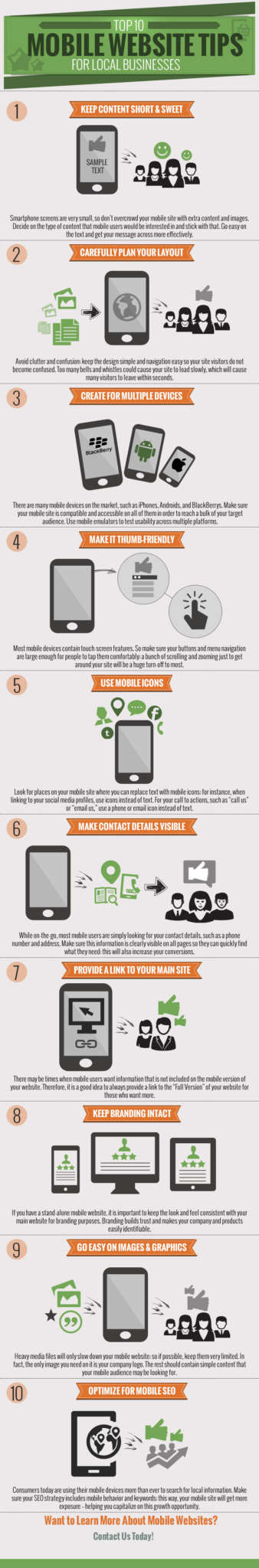 top 10 mobile website tips