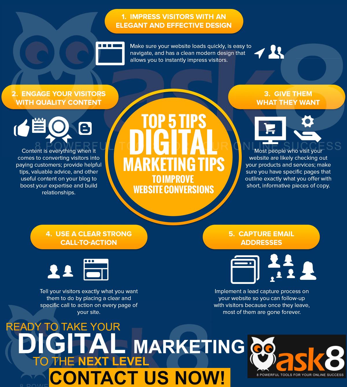 TOP 5 Digital Marketing Tips To Improve Website Conversions