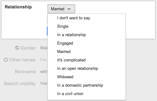 relationship statuses